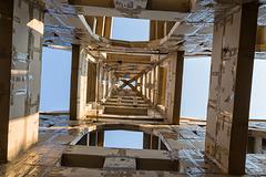BESANCON: Place de la Révolution: Reconstitution de l'Arc de Triomphe en carton 02