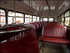 top deck of an old Oxford bus