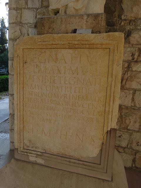 Musée archéologique de Split : CIL III, 14 777, 1