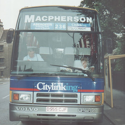 MacPherson Coaches D555 CJF in Cambridge - 5 Sept 1991