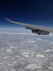 Flying over Canada .....