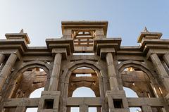BESANCON: Place de la Révolution: Reconstitution de l'Arc de Triomphe en carton 03