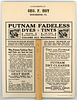 Putnam Fadeless Dyes and Tints Advertising Fan (Back)