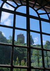Blick aus der Sayner Hütte ...