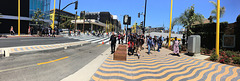 Panorama of crowd streaming from Expo Line (0839)