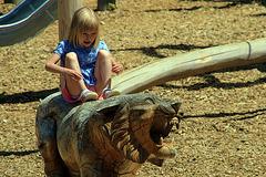 Une scène d'une rare violence , un lion s'est sauvagement déchaîné sur une petite fille . Fallait pas l'agacer non plus !