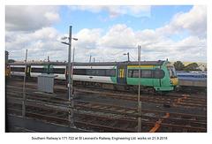 Southern 171 722 at St Leonard's Railway Engineering Ltd - 21.9.2018