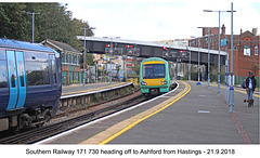 Southern 171 730 - Hastings - 21.9.2018
