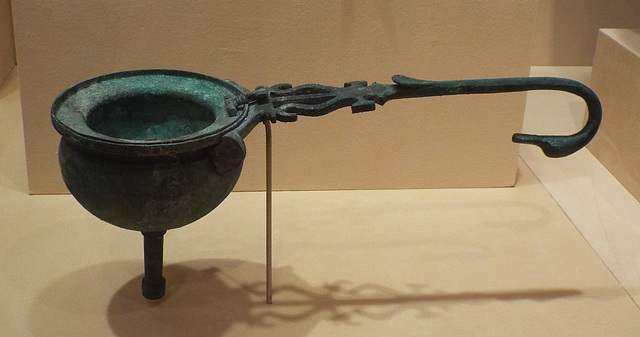 Etruscan Wine Funnel with Strainer in the Virginia Museum of Fine Arts, June 2018