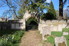 Gateway to Lyndon Hall, Saint Martin's Churchyard, Lyndon, Rutland