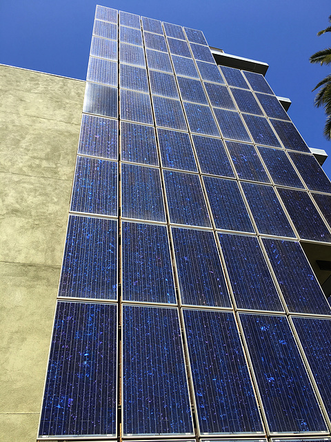 Solar Panels arrayed vertically (0847)