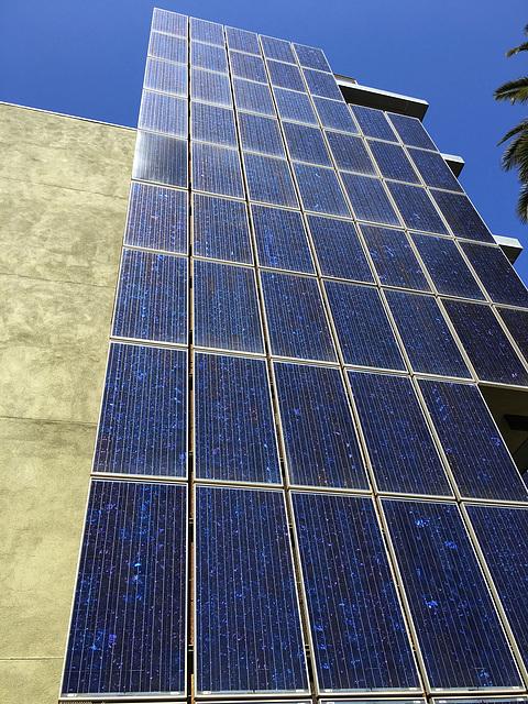 Solar Panels arrayed vertically (0847)