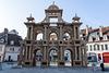 BESANCON: Place de la Révolution: Reconstitution de l'Arc de Triomphe en carton 06