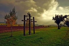 Herbstimmung bei den drei Kreuzen - Autumn mood at the three crosses - mit PiP