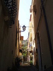 Picturesque narrow street.
