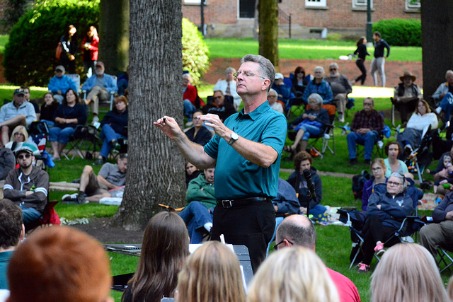 Command Sgt. Maj. Mitchell Spray (ret), guest conductor
