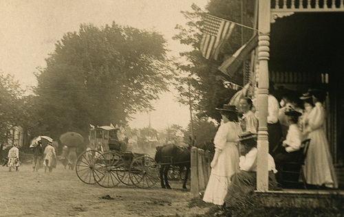 Fourth of July Parade, Liberty, Maine, 1908 (Details on Right)