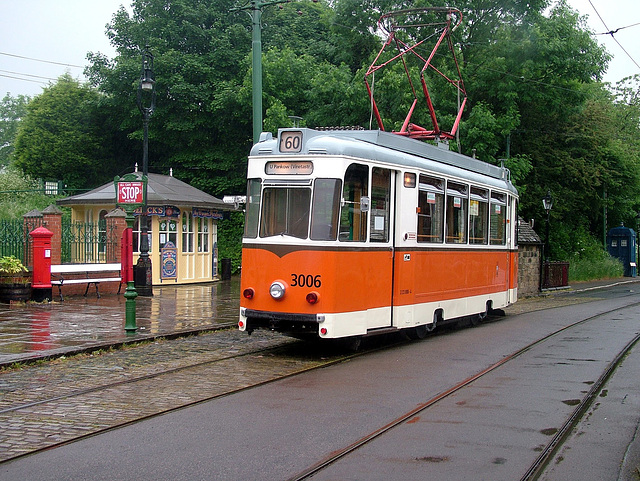 Ex Berlin Tram No.3006 at Crich Tramway Museum,Derbyshire 14th June 2006