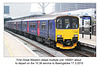 First Great Western dmu 150001 at Reading - 17.3.2015