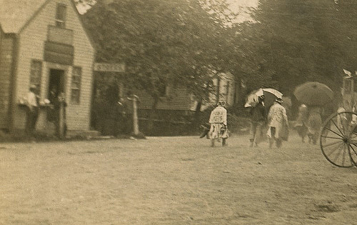 Fourth of July Parade, Liberty, Maine, 1908 (Details on Left)