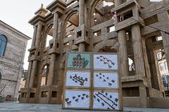 BESANCON: Place de la Révolution: Reconstitution de l'Arc de Triomphe en carton 08