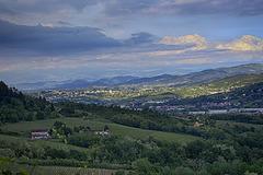 Valley at dusk