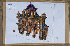 BESANCON: Place de la Révolution: Reconstitution de l'Arc de Triomphe en carton 10