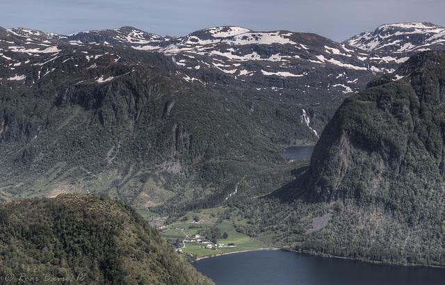 Frette seen from Mt Hålandshovda.