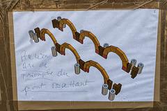 BESANCON: Place de la Révolution: Reconstitution de l'Arc de Triomphe en carton 11