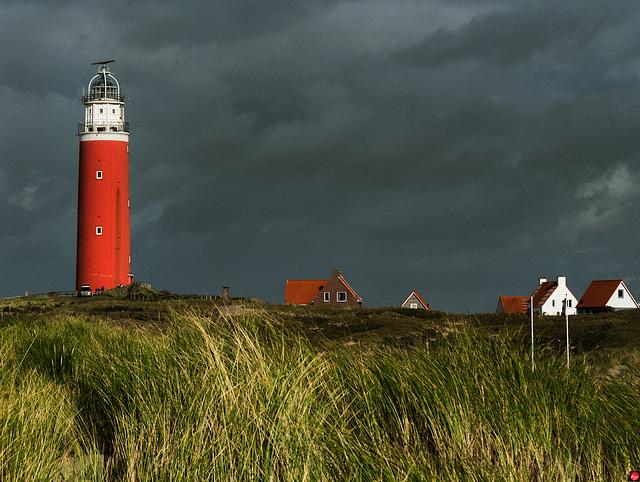 Der schöne Leuchtturm an der Nordspitze von Texel