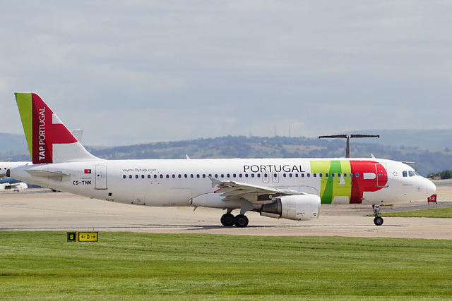 CS-TNK taxying at Manchester - 11 July 2015
