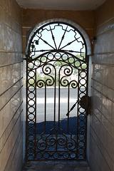 Albania, Vlorë, Cast Iron Door to the Bektashi Temple