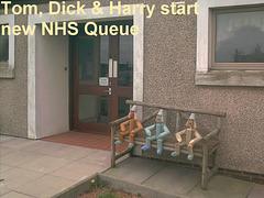 New NHS queue formed