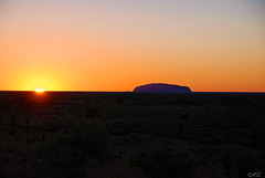 Sonnenuntergang am Ayers Rock (Uluru)