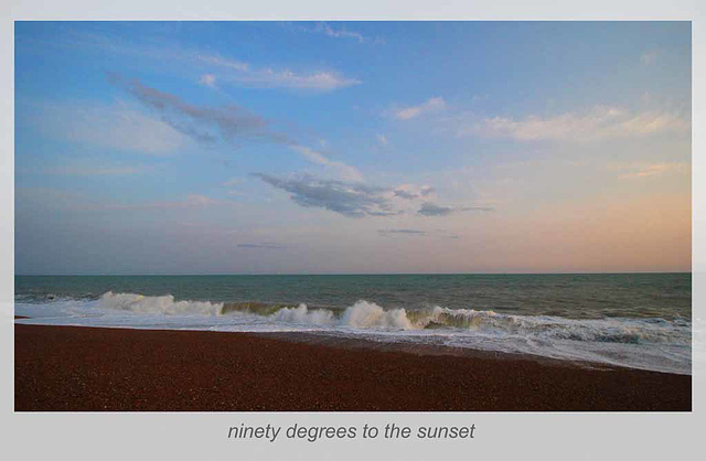 ninety degrees to the sunset - Seaford - 8.7.2015
