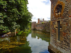 The Moat and Walls of the Bishops Palace, Wells.