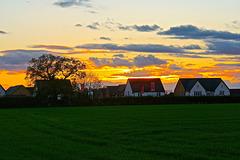 Wintery sunset