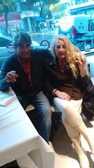 Con mi amigo y colega navegante español