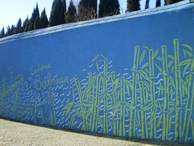 Mural on wall of Cerca House.