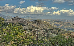 Landschaft in den Monti Sicani. Sizilien