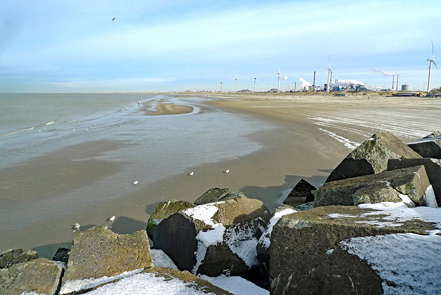 Nederland - Velsen-Noord, Strand Noordpier
