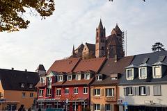 Breisach in der Altsadt, mit Blick zum Breisacher Münster St. Stephan