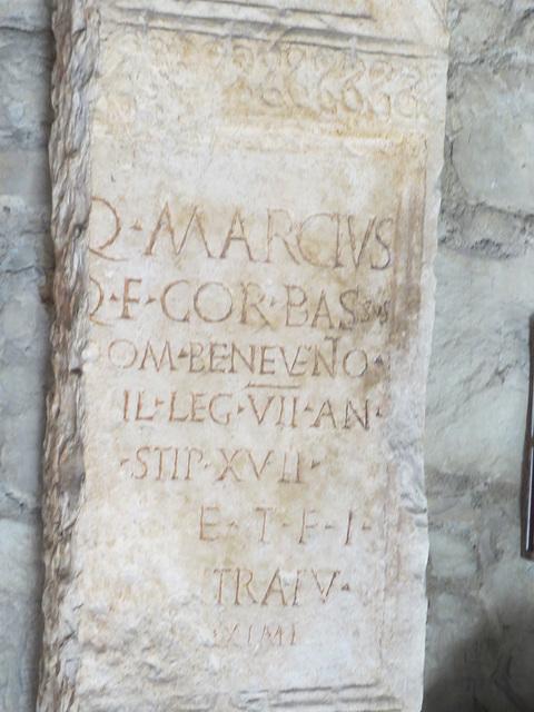 Musée archéologique de Split : CIL III, 14932, p. 2328, 114.