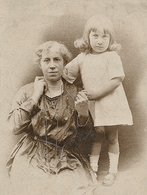 Mum - aged 3 - with her Mother... my Grandmother