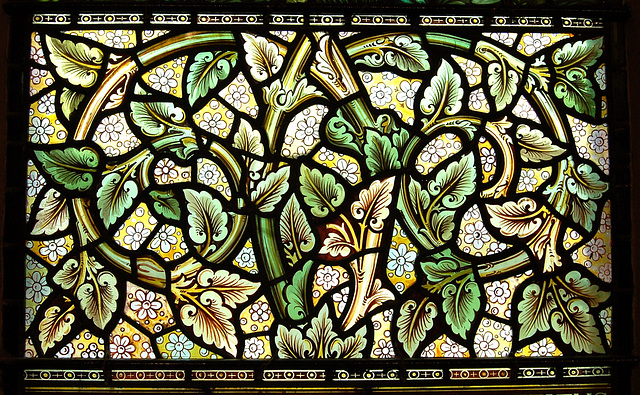 Detail of Morris & Co window, Nave, St Margaret's Church, Ward End, Birmingham