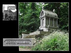 Nunhead Cemetery vault of John Allan 19 5 2007