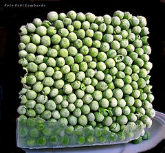 a square of peas