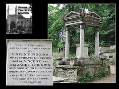Nunhead Cemetery vault of Vincent & Rosanna Figgins 19 5 2007