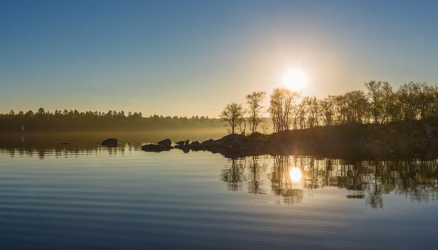 Isle Jäkäläsaari on Lake Inari
