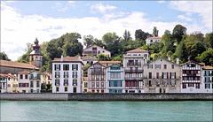 Saint-Jean-de-Luz (64) 24 septembre 2012. Vue sur Ciboure.